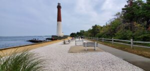 A picture of Barnegat Lighthouse State Park Long Beach Island from our vacation